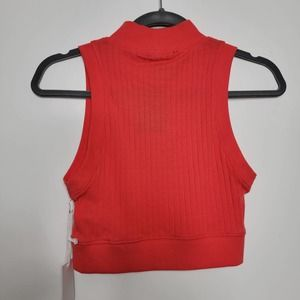 Forever 21 Knit Sleeveless Crop Top Coral